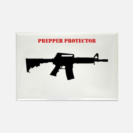 Prepper Protector Rectangle Magnet