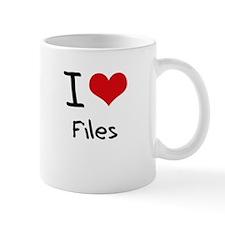 I Love Files Mug