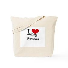 I Love Filling Stations Tote Bag