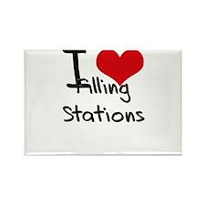 I Love Filling Stations Rectangle Magnet