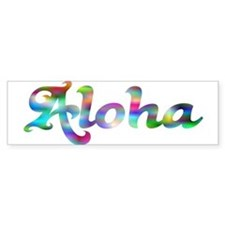 Aloha Rainbow Bumper Bumper Sticker