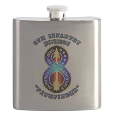 Army - Division - 8th Infantry DUI Flask