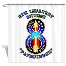 Army - Division - 8th Infantry DUI Shower Curtain