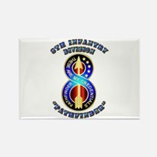 Army - Division - 8th Infantry DUI Rectangle Magne