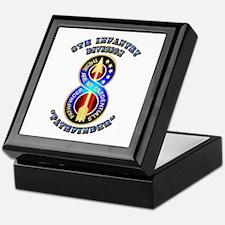 Army - Division - 8th Infantry DUI Keepsake Box