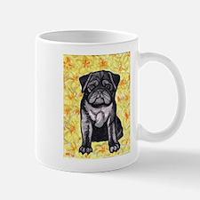 Cute black pug by Artwork by NikiBug Mug