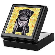 Cute black pug by Artwork by NikiBug Keepsake Box