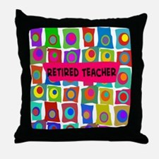 retired teacher 2 Throw Pillow