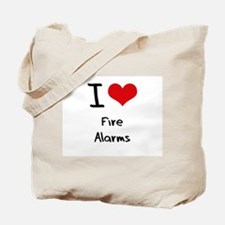 I Love Fire Alarms Tote Bag