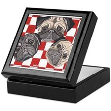 Pug n' picnic by Artwork by NikiBug Keepsake Box