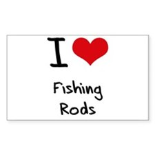 I Love Fishing Rods Decal