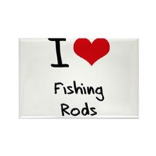 I Love Fishing Rods Rectangle Magnet