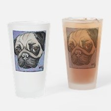 """In your face"" pug by Artwork by NikiBug Drinking"
