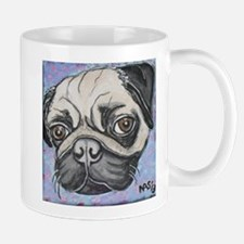 """In your face"" pug by Artwork by NikiBug Mug"