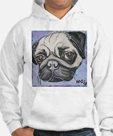 """""""In your face"""" pug by Artwork by NikiBug Hoodie"""