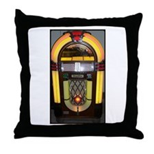 Wurlitzer bubbler jukebox Throw Pillow