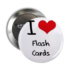 """I Love Flash Cards 2.25"""" Button"""