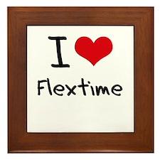 I Love Flextime Framed Tile