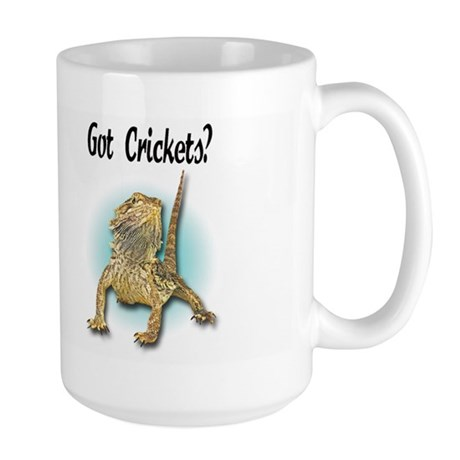 Bearded Dragon Got Crickets Large Mug