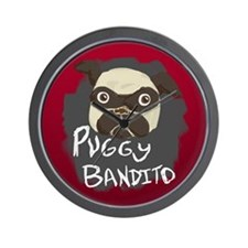 Puggy Bandito Wall Clock