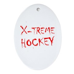 X-treme Hockey Oval Ornament