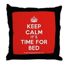 Keep Calm its Time For Bed Throw Pillow