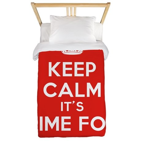 Keep Calm its Time For Bed Twin Duvet