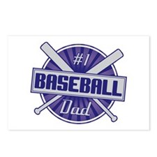 #1 Baseball Dad Postcards (Package of 8)