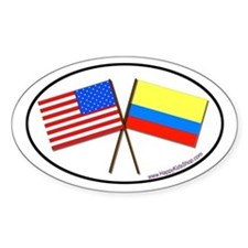 Oval Sticker USA/Colombia