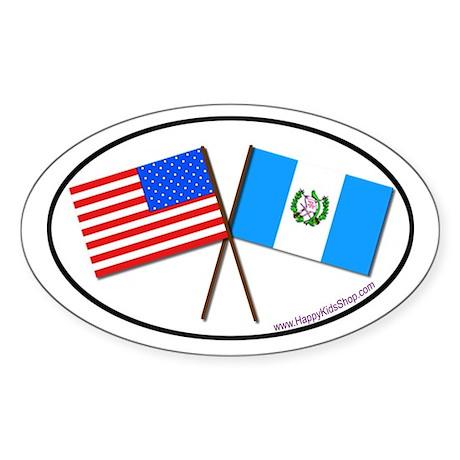 Oval Sticker USA/Guatemala