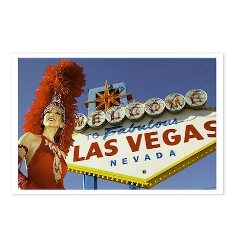 Las Vegas Showgirl Postcards (Package of 8)