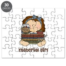 Material Girl with Fabric Puzzle