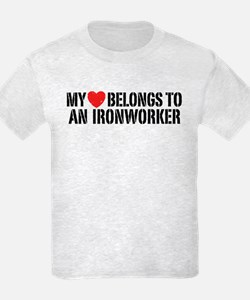 My Heart Belongs To An Ironworker T-Shirt