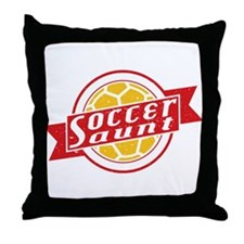 Soccer Aunt Throw Pillow