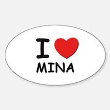 I love Mina Oval Decal