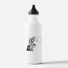 Funny Rodin Thinker Water Bottle