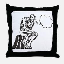 Funny Rodin Thinker Throw Pillow