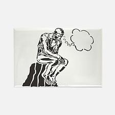 Funny Rodin Thinker Rectangle Magnet