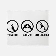 Ukulele Player Throw Blanket