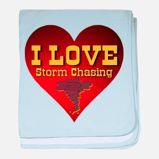 I Love Storm Chasing baby blanket
