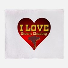 I Love Storm Chasing Throw Blanket