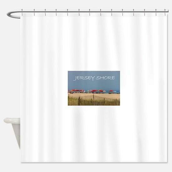 Jersey Shore Beach Umbrellas Shower Curtain