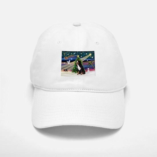 Xmas Magic & Bernese Baseball Baseball Cap