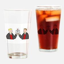 Civil partnership toast. Drinking Glass