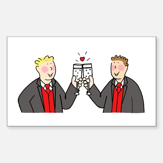 Civil partnership toast. Decal
