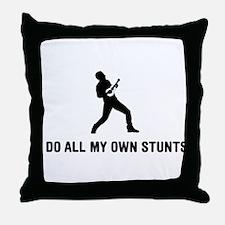 Ukulele Player Throw Pillow