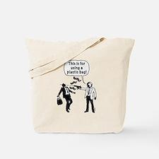 Cartoon: Anti-Plastic Waste Activist Tote Bag