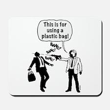 Cartoon: Anti-Plastic Waste Activist Mousepad