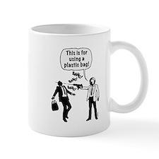 Cartoon: Anti-Plastic Waste Activist Mug