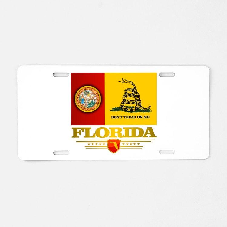 Florida Gadsden Flag Aluminum License Plate